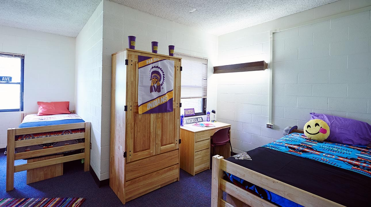 2-person suite in men's residence hall