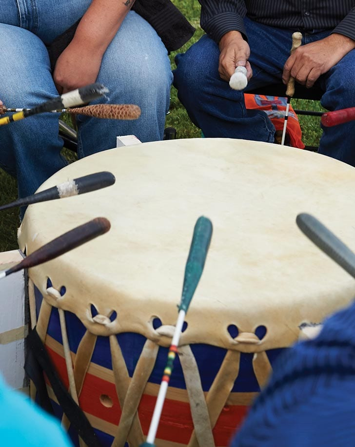 Drums at the powwow