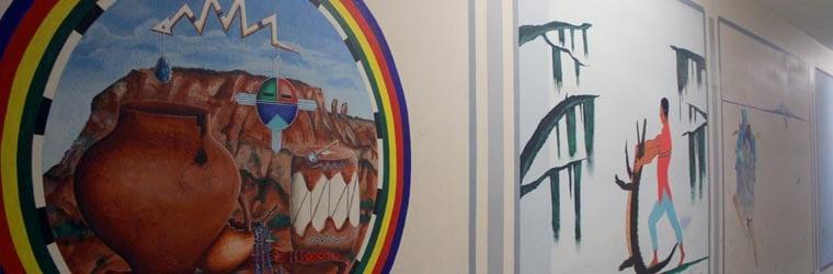 Murals of Native American art